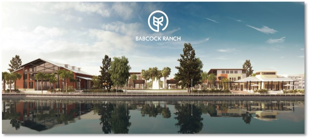 Rendering of downtown Babcock Ranch